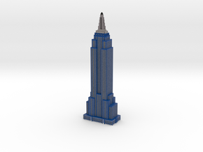 Empire State Building -  Blueberry w White windows in Full Color Sandstone