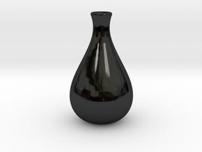 Slender Sake Bottle in Gloss Black Porcelain