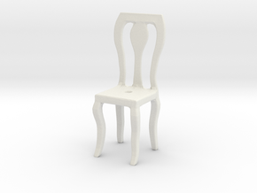Dining Chair in White Natural Versatile Plastic: Small