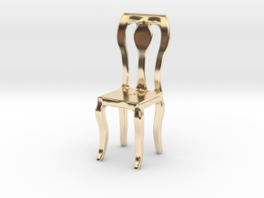 Dining Chair in 14k Gold Plated Brass: Small