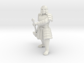 Dwarf Fighter in White Natural Versatile Plastic