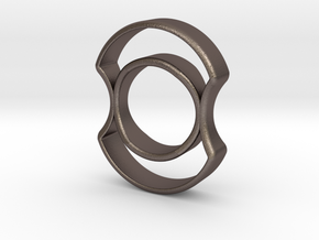 Micro Spinner in Polished Bronzed Silver Steel