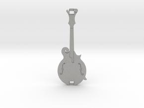Mandolin Pendant in Aluminum