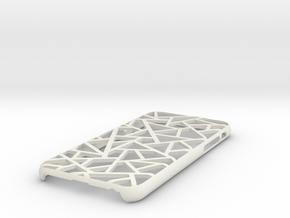 iPhone 6 / 6S case_Triangles in White Premium Versatile Plastic