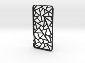 iPhone 6 plus / 6S plus Case_Triangles in Black Premium Strong & Flexible