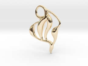 Ocean waves  in 14k Gold Plated Brass