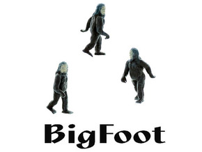 BIGFOOT HO Scale Creature in Smooth Fine Detail Plastic
