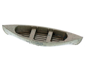 Double Ender Rowboat HO Scale in Smooth Fine Detail Plastic