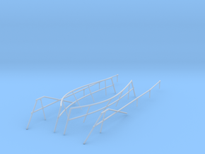 1/48 DKM Uboot VIIC 41 Hull Railing SET in Smooth Fine Detail Plastic