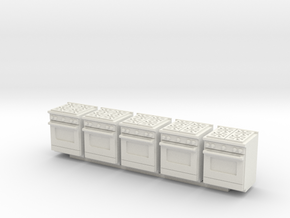5 1:48 Kitchen Stove(Range) and Oven in White Natural Versatile Plastic