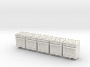5 1:48 Kitchen Stove(Range) and Oven in White Natural Versatile Plastic