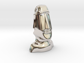 Moai : Head Statue of the island of Easter in Platinum