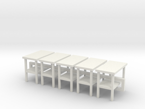 5 - 1:48 Simple Side Table in White Natural Versatile Plastic