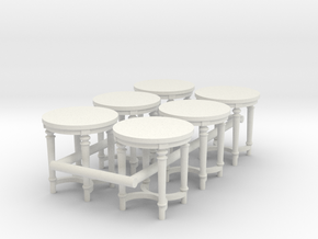6 - 1:48 French Country Side End Table in White Natural Versatile Plastic