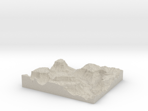 Model of Horse Flat Canyon in Natural Sandstone