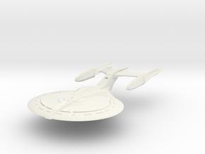 Federation Destiny Class  BattleCruiser in White Natural Versatile Plastic