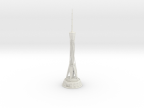 Zhongyuan Tower (1:2000) in White Natural Versatile Plastic