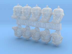 28mm Dieselpunk soldier heads in Frosted Extreme Detail