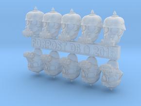 28mm Dieselpunk soldier heads in Smoothest Fine Detail Plastic