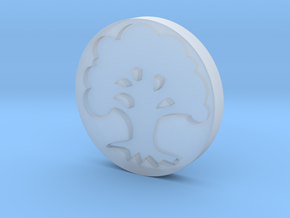Forest Token in Smooth Fine Detail Plastic