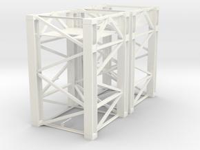 Baukran Turmstück 3.3m 2 Stück in White Processed Versatile Plastic: 1:87 - HO