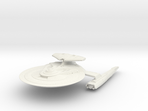 Federation Hawk Class HvyDestroyer  larger in White Natural Versatile Plastic