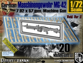 1/72 Machine Gun MG-42 Set001 in Smoothest Fine Detail Plastic