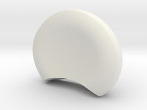 Panda ears in White Natural Versatile Plastic