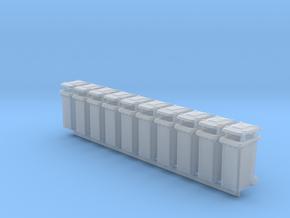 Trash bin Ver03. O Scale (1:48) in Smooth Fine Detail Plastic