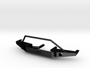 Front Bumper for Axial SCX10-II Jeep Cherokee in Matte Black Steel