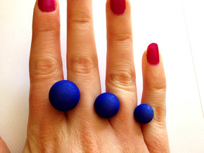 Three Ball Ring Size Small in Blue Processed Versatile Plastic