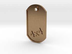 MILITARY DOG TAG 4X4 in Natural Brass
