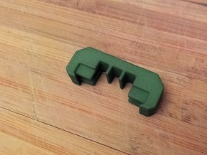 1 Slot Picatinny Wire Clip Rail Cover (10-Pack) in Green Processed Versatile Plastic
