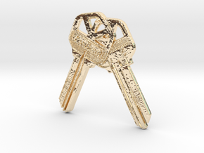 House Keys Pendent in 14K Yellow Gold