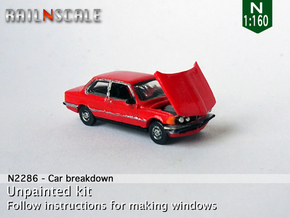 Car breakdown (N 1:160) in Smooth Fine Detail Plastic