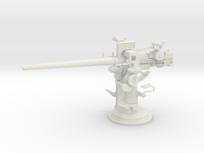 1/16 USN 3 inch 50 [7.62 Cm] Deck Gun in White Natural Versatile Plastic