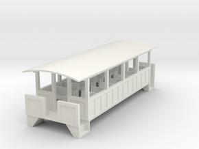 Excursion Car - Oscale in White Natural Versatile Plastic