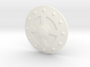 1/6 Mini Comic Shield in White Processed Versatile Plastic