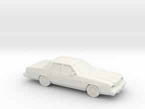1/43 1979-81 Dodge St Regis in White Natural Versatile Plastic