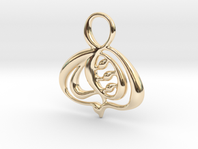 Autumn leaf in 14k Gold Plated Brass