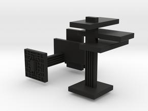 FLW Cufflinks in Black Premium Versatile Plastic