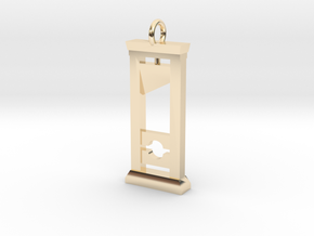 Guillotine Pendant in 14K Yellow Gold