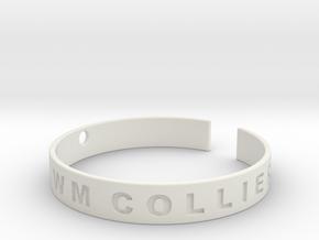Custom Bracelet. in White Natural Versatile Plastic