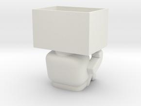 Robot Planter 3Dylan in White Natural Versatile Plastic