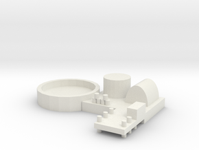 Naval Base Option 2 in White Natural Versatile Plastic