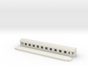 Co8f - Swedish passenger wagon in White Natural Versatile Plastic