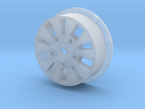 sawtooth beatlock wheels 2.0, part 2/3 rear in Smooth Fine Detail Plastic