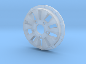 sawtooth beatlock wheels 2.0, part 1/3 front in Smooth Fine Detail Plastic