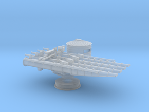 1/192 USS 21in Quadruple Tube Mounts in Smooth Fine Detail Plastic