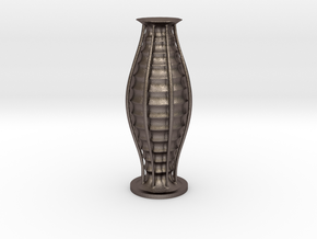 Vase 1350n in Polished Bronzed Silver Steel